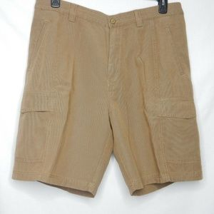Tommy Bahama Relax Cargo Shorts Brown Khaki Sz 28